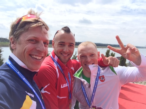 Petter Menning EM-silver podium selfie